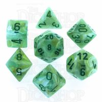 Chessex Marble Green 7 Dice Polyset