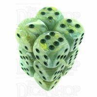 Chessex Marble Green 12 x D6 Dice Set
