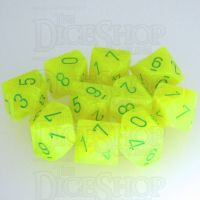 Chessex Vortex Electric Yellow & Green 10 x D10 Dice Set
