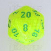 Chessex Vortex Electric Yellow & Green D20 Dice