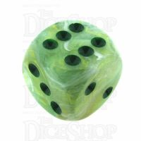 Chessex Marble Green 16mm D6 Spot Dice
