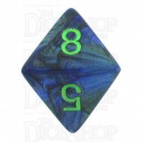 Chessex Lustrous Dark Blue & Green D8 Dice