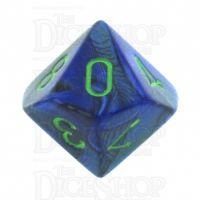 Chessex Lustrous Dark Blue & Green D10 Dice