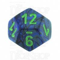 Chessex Lustrous Dark Blue & Green D12 Dice