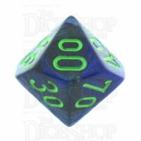 Chessex Lustrous Dark Blue & Green Percentile Dice
