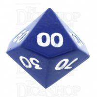 TDSO Metal Spectrum Blue Finish Percentile Dice - Discontinued