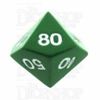 TDSO Metal Spectrum Green Finish Percentile Dice - Discontinued