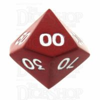 TDSO Metal Spectrum Red Finish Percentile Dice - Discontinued