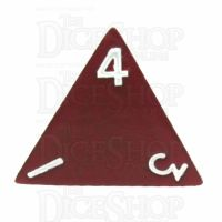 TDSO Metal Spectrum Red Finish D4 Dice - Discontinued