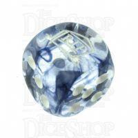 Chessex Nebula Black RIP Logo D6 Spot Dice
