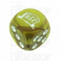 Chessex Gemini Gold RIP Logo D6 Spot Dice