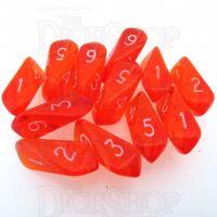 Crystal Caste Gem Orange 12 x D6 Dice Set
