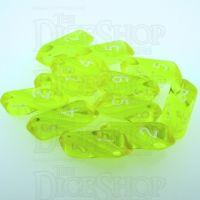 Crystal Caste Gem Yellow 12 x D6 Dice Set