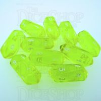 Crystal Caste Gem Yellow 10 x D10 Dice Set