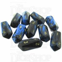 Crystal Caste Oblivion Blue 10 x D10 Dice Set