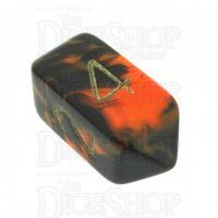 Crystal Caste Oblivion Orange D4 Dice