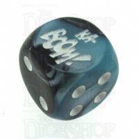 Chessex Gemini Black & Shell KA-BOOM! Logo D6 Spot Dice