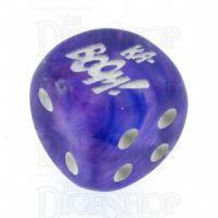 Chessex Borealis Purple KA-BOOM! Logo D6 Spot Dice