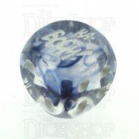 Chessex Nebula Black KA-BOOM! Logo D6 Spot Dice