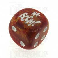 Chessex Lustrous Bronze KA-BOOM! Logo D6 Spot Dice