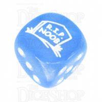 Chessex Velvet Bright Blue RIP NOOB Logo D6 Spot Dice