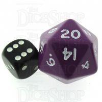 D&G Opaque Purple JUMBO 34mm D20 Dice