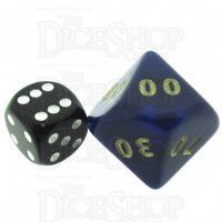 D&G Interferenz Blue JUMBO 34mm Percentile Dice
