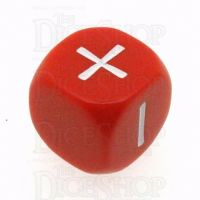 Grey Ghost Opaque Red & White Fudge Fate D6 Dice