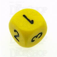 Chessex Opaque Yellow & Black D3 Dice