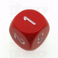 Chessex Opaque Red & White D3 Dice
