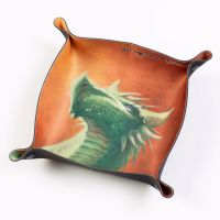 Folding Dice Tray - Dragon - Verdant