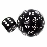 TDSO Opaque Black & White 38mm D60 Dice