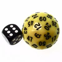 TDSO Opaque Yellow 38mm D60 Dice