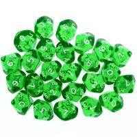 CLEARANCE D&G Gem Green 25 x D10 Dice Set - SECONDS