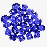 CLEARANCE D&G Gem Blue 25 x D10 Dice Set - SECONDS