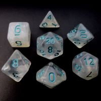 TDSO Winter Frost Turquoise 7 Dice Polyset