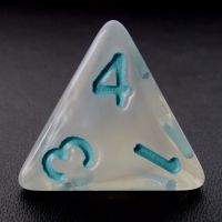 TDSO Winter Frost Turquoise D4 Dice