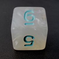 TDSO Winter Frost Turquoise D6 Dice