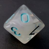 TDSO Winter Frost Turquoise D10 Dice