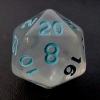 TDSO Winter Frost Turquoise D20 Dice
