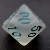 TDSO Winter Frost Turquoise Percentile Dice
