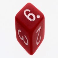 Tessellations Opaque White Skew D6 Spot Dice