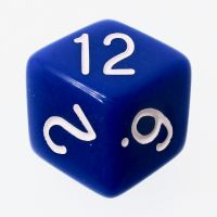 Tessellations Opaque Blue & White Rhombic D12 Dice