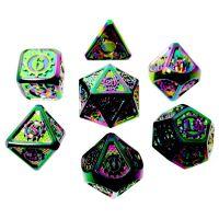 TDSO Metal Gears Iridescent Rainbow 7 Dice Polyset