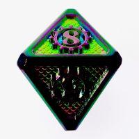 TDSO Metal Gears Iridescent Rainbow D8 Dice