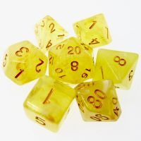 SPECIAL OFFER TDSO Psychic Swirl Yellow Dice Polyset HALF PRICE