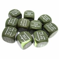CLEARANCE Opaque Grey Bolt Action Orders 10 x D6 Dice Set