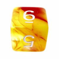 TDSO Cyclone Red & Yellow D6 Dice