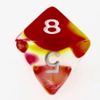 TDSO Cyclone Red & Yellow D8 Dice