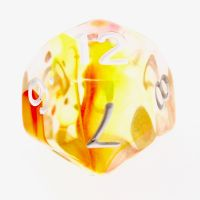 TDSO Cyclone Red & Yellow D12 Dice
